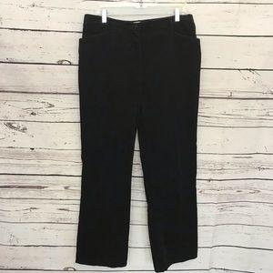 Orvis Women's 10 Black corduroy pants h72